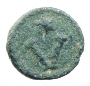 reverse: Bizantini. Giustino II. 565-578 d.C. Pentanummo. Ae. D/ DN IVSTINI PP Busto verso destra. R/ Grande V sopra stella, in corona. Zecca Roma. Peso 1,48 gr. Diametro 11,00 mm. BB+.__