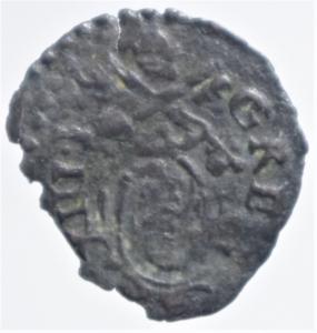 obverse: Zecche Italiane. Ancona. Gregorio XIII (1572-1585). Quattrino.Busto di San Pietro. CNI 357. MI. Ottimo BB
