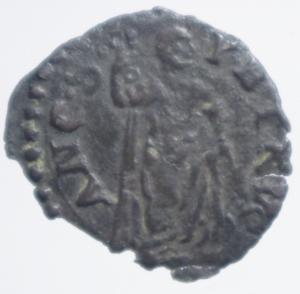 reverse: Zecche Italiane. Ancona. Gregorio XIII (1572-1585). Quattrino.Busto di San Pietro. CNI 357. MI. Ottimo BB