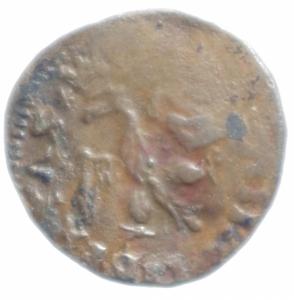 obverse: Zecche Italiane.L  Aquila. Innocenzo VIII (1484-1492). Cavallo, Aquila . CNI tav. IV, 8. MIR 100. AE. g. 1.70 mm. 18.00 BB.