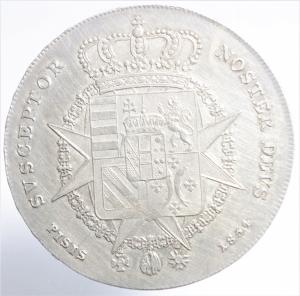 reverse: Zecche Italiane. Firenze. Leopoldo II (1824-1859). Francescone 1834. Gig.16. NC. AG. Peso 27,35 gr. BB\BB+.