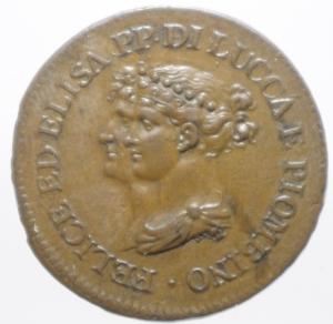 obverse: Zecche Italiane.Lucca e Piombino. Elisa Bonaparte e Felice Baciocchi (1805-1814). 3 Centesimi 1806. CNI 9 MIR 247. AE. R. SPL.ig