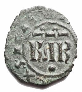 obverse: Zecche Italiane - Messina Carlo I d  Angi (1266-1285) Denaro. D/ KAR, sopra .R/ Croce, nei quarti gigli. Sp.50. MI. 0,72 gr.BB+