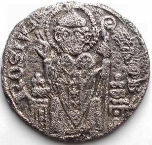 obverse: Zecche Italiane - Milano. I Repubblica 1250-1310. Grosso da Sei denari. gr 2,72. mm 21,16. Poroso