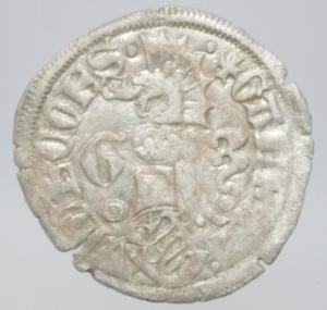 obverse: Zecche Italiane. Milano. Galeazzo Visconti. 1355-78. Sesino. Ag. D/ Cimiero R/Tizzone con 2 secchie .CNI 13\19. Peso gr. 1,10 Diametro mm. 21,00. qSPL.