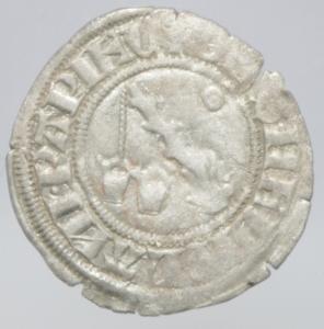 reverse: Zecche Italiane. Milano. Galeazzo Visconti. 1355-78. Sesino. Ag. D/ Cimiero R/Tizzone con 2 secchie .CNI 13\19. Peso gr. 1,10 Diametro mm. 21,00. qSPL.