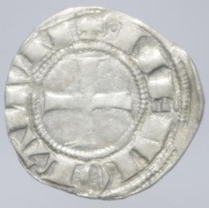 reverse: Zecche Italiane.Milano. Bernab e Galeazzo Visconti (1354-1378). Sesino. D\ Croce patente R\Biscione.Cr. 5. AG. g. 1.00.BB+