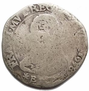 obverse: Zecche Italiane -Modena.Francesco I d Este. 1629-1658.2 lire 1658.Ag. Peso gr. 7,23. Diametro mm. 29,7.B-MB.
