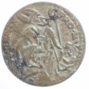 reverse: Zecche Italiane . Modena. Rinaldo d Este (1706-1737). Giorgino. MIR 836. MI. NC. Peso 1,75 gr.MB\qBB.