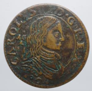 obverse: Zecche Italiane. Napoli. Carlo II. Grano 1682. Ae.Peso 8,60 gr.SPL.ig