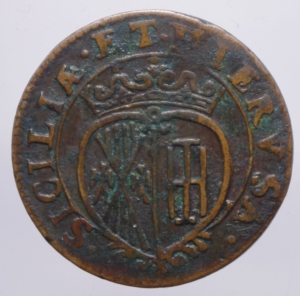 reverse: Zecche Italiane. Napoli. Carlo II. Grano 1682. Ae.Peso 8,60 gr.SPL.ig