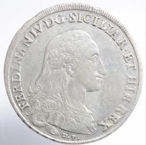 obverse: Zecche Italiane.Napoli. Ferdinando IV (I periodo 1759-1799). 120 grana o piastra 1788. MIR 370/4. P.R. 52. AR.BB\ BB+.ig