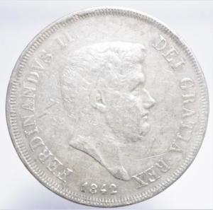 obverse: Zecche Italiane. Napoli. Ferdinando II di Borbone. 1830-1859. 120 grana o piastra 1842. AG. BB.