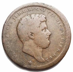 reverse: Zecche Italiane - Napoli. Ferdinando II.Due tornesi 1852. Peso 5,78 g. P.R. 254.qBB.