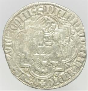 reverse: Zecche Italiane. Pavia. Galeazzo II Visconti. 1359-1378. Grosso da un soldo e mezzo.Peso 2,40 gr. Ag. Cast.1. BB. R.