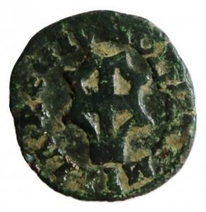 reverse: Reggio Emilia. Alfonso I D Este. 1505-1512. Bagattino. Cu. CNI.12\27. Peso 2,00 gr. BB. R.