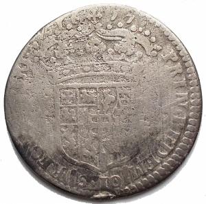 reverse: Casa Savoia -Vittorio Amedeo II (Reggenza della madre 1675-1680).1/2 lira 1677.MIR 839c.AG.g 2,74.mm 21,35. MB. R