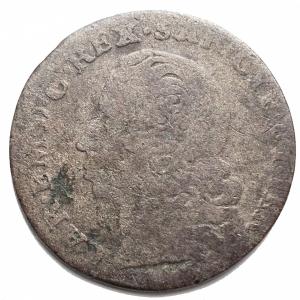 obverse: Casa Savoia -Carlo Emanuele III (1730-1773).5 soldi (III tipo) 1746, Torino.MIR 936e.MI.gr 3,97.mm 24,43. MB+-qBB.NC.Patina