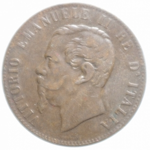 reverse: Casa Savoia. Vittorio Emanuele II. 10 Centesimi 1867. Strasburgo. Peso 9,80gr. Diametro 30 mm. BB.