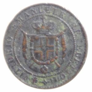 obverse: Casa Savoia.Re Eletto. Vittorio Emanuele II (1859-1861). Centesimo 1859. Pag. 447. Mont. 125. AE.BB
