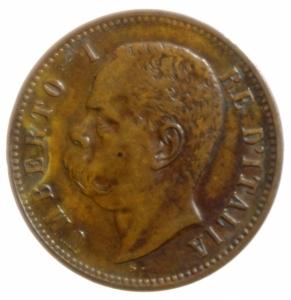 obverse: Casa Savoia. Umberto I. 2 Centesimi 1897. Peso 2,00 gr. Diametro 20 mm. Pagani 622.BB+.
