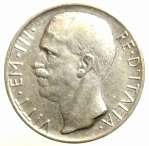 obverse: Casa Savoia. Vittorio Emanuele III. 10 Lire 1927. BB