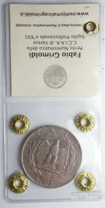 reverse: Casa Savoia - Vittorio Emanuele III. 2 lire 1936 Impero. Rara. qBB/BB+ Periziata