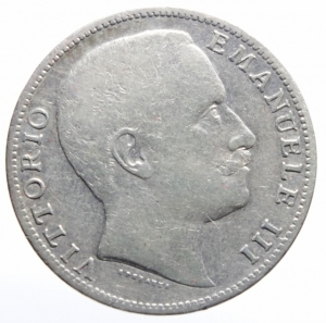 obverse: Casa Savoia. Vittorio Emanuele III. 2 Lire 1907. Montenegro 146-C27-P731. Peso 10,00 gr. Diametro 27 mm. BB. ex Tintinna 61, lotto 7035, aggiudicata ma non pagata.