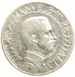 obverse: Casa Savoia. Vittorio Emanuele III. 1900-1943. Lira 1912. AG.Pag. 771. BB