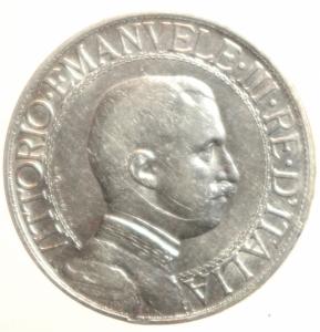 obverse: Casa Savoia. Vittorio Emanuele III. 1900-1946. 1 Lira 1913. BB.