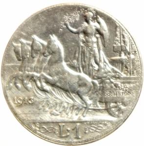 reverse: Casa Savoia. Vittorio Emanuele III. 1900-1946. 1 Lira 1913. BB.
