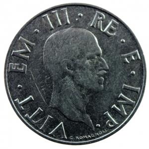reverse: Casa Savoia. Vittorio Emanuele III. 1900-1943. 2 Lire 1940. Antimagnetica. qSPL.