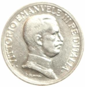 obverse: Casa Savoia. Vittorio Emanuele III. 1 lira 1917 quadriga briosa. Gig 139. Argento.BB.