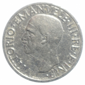 reverse: Casa Savoia. Vittorio Emanuele III. 1 Lira 1936 Impero anno XIV. BB