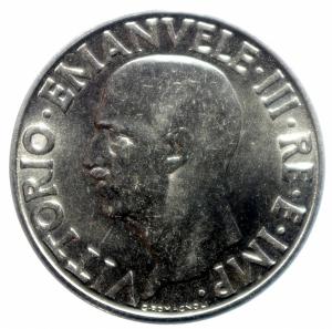obverse: Casa Savoia.Vittorio Emanuele III.Lira 1939 Anno XVIII.SPL.