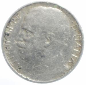 reverse: Casa Savoia. Vittorio Emanuele III. 50 Centesimi Leoni 1919 Contorno rigato. qBB. NC