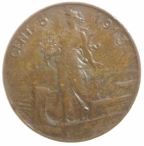 reverse: Casa Savoiaa.Vittorio Emanuele III. 5 centesimi 1913 .Peso 4,99 g Rarit NC Gigante 260.BB.