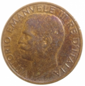 obverse: Casa Savoia. Vittorio Emanuele III. 10 Centesimi 1922. Peso 5,24 gr. Diametro 22,45 mm.BB+. Parziale Rame Rosso.