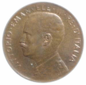 reverse: Casa Savoia. Vittorio Emanuele III. 2 Centesimi 1915. Peso 1,99 gr. Diametro 19,98 mm. qFDC.
