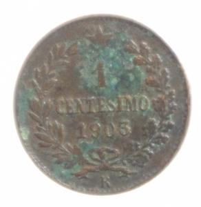 reverse: Casa Savoia. Vittorio Emanuele III. 1 Centesimo 1903 Valore.BB.
