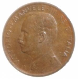 obverse: Casa Savoia. Vittorio Emanuele III. 1 Centesimo 1910. Rame rosso. qFDC.