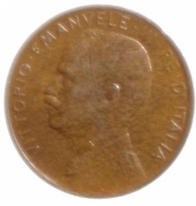 obverse: Casa Savoia. Vittorio Emanuele III. Centesimo 1915. Pagani 952. SPL.Rame Rosso