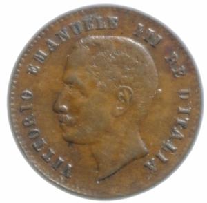 reverse: Casa Savoia. Vittorio Emanuele III. 1900-1943. 2 Centesimi 1906 Valore. Gig. 295. SPL