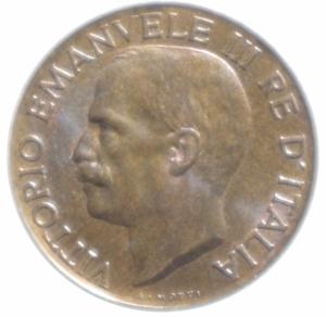 reverse: Casa Savoia. Vittorio Emanuele III. 1900-1943. 5 Centesimi 1930 spiga. FDC.