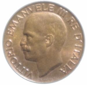 reverse: Casa Savoia. Vittorio Emanuele III. 1900-1943. 5 Centesimi 1934. Ae. FDC. R