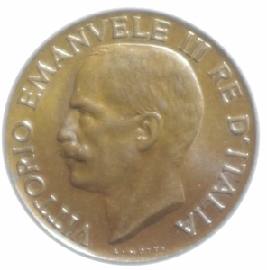reverse: Casa Savoia. Vittorio Emanuele III. 5 Centesimi 1926. qFDC