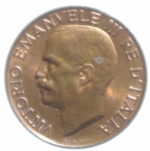 reverse: Casa Savoia. Vittorio Emanuele III. 1900-1943. 5 centesimi 1931  Spiga . CU. qFDC.