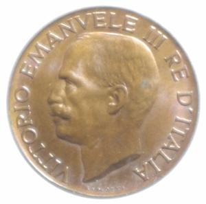 reverse: Casa Savoia. Vittorio Emanuele III. 5 Centesimi 1929. FDC .
