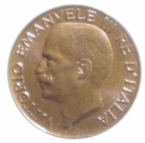 reverse: Casa Savoia. Vittorio Emanuele III. 5 centesimi 1934. Ae. qFDC. Rame rosso