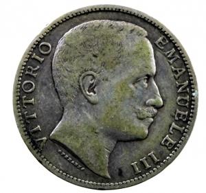 reverse: Casa Savoia. Vittorio Emanuele III. 1900-1943. 2 lire 1906. AG. Pag. 730. MB+\BB+.
